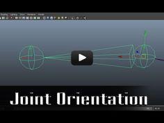 Joint Orientation - Autodesk Maya