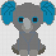 Peanut Elephant Beanie Boo Perler Bead Pattern / Bead Sprite