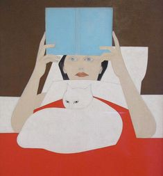 Will Barnet, Woman reading, 1965.
