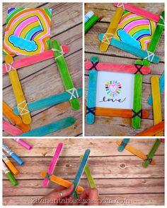 Make this sweet and simple phot frame craft with crafts sticks, rubber bands, and washable markers! Make this sweet and simple phot frame craft with crafts sticks, rubber bands, and washable markers! Easy Crafts For Kids, Toddler Crafts, Creative Crafts, Art For Kids, Simple Crafts, Summer Crafts, Popsicle Crafts, Craft Stick Crafts, Craft Sticks