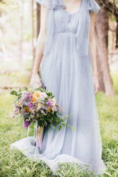 Something Blue Jenny Yoo wedding dress: http://www.stylemepretty.com/little-black-book-blog/2014/10/20/dreamy-something-blue-wedding-inspiration/ | Photography: Reverie Supply - https://reveriesupply.squarespace.com/