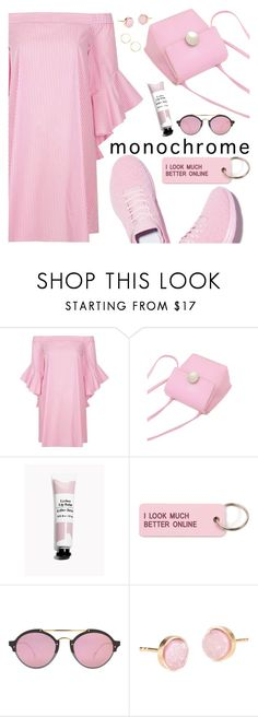 """""""Untitled #3152"""" by deeyanago ❤ liked on Polyvore featuring River Island, Various Projects, Illesteva, Pernille Corydon and monochromepink"""