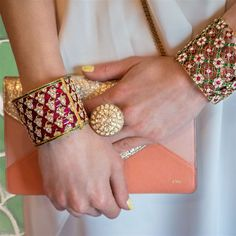 Pretty statement cuffs and ring