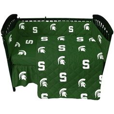 Sweet Dreams with this Michigan State Spartans Green Crib Set