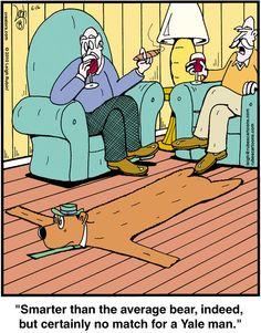 Yogi Bear is No Match for a Yale man! << Rubes on Alphacomedy.com >> #yogi #comics #funny #lol #humor