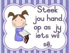 Slide2 Classroom Lables, Classroom Organization, Classroom Decor, Classroom Management, Afrikaans Language, Phonics Chart, Kindergarten Colors, School Worksheets, Kids Education