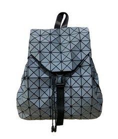 Vintage 2017 summer women backpack Geometric hologram school bag laser  silver Luminous baobao backpack famous logo bag baobao 50afabd53b585