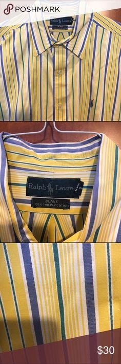 Ralph Lauren Blake 100% Two-Ply Cotton Ralph Lauren Blake  100% two- ply cotton.    All flaws are in the pictures dry cleaned Ralph Lauren  Shirts Dress Shirts