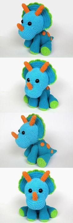 Triceratops Tripi Amigurumi Pattern                                                                                                                                                                                 More