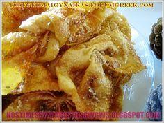 ΔΙΠΛΕΣ ΤΡΑΓΑΝΕΣ ΚΑΙ ΠΕΝΤΑΝΟΣΤΙΜΕΣ!!! Greek Desserts, Greek Recipes, Churros, Mediterranean Recipes, Confectionery, Apple Pie, Fries, Deserts, Snack Recipes
