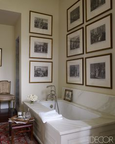 Love the antique prints!  Julia Reed and John Pearce's home in New Orleans. Elle Decor.