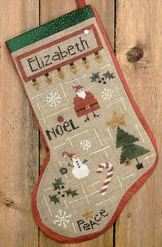 My Favorite Things Stocking: A Cross Stitch Chart by Bent Creek Cross Stitch Christmas Stockings, Christmas Cross, Christmas Ornaments, Saint Nicolas, Cross Stitching, Bent Creek, Cross Stitch Patterns, Favorite Things, Holiday Decor