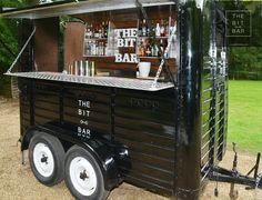 BIT BAR WEDDINGS SM Catering Trailer, Food Trailer, Coffee Carts, Coffee Truck, Coffee Van, Coffee Shop, Horse Box Conversion, Bar On Wheels, Prosecco Bar