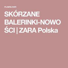 SKÓRZANE BALERINKI-NOWOŚCI | ZARA Polska