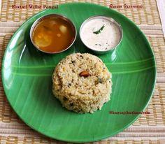 Foxtail Millet / Thinai Pongal | Foxtail Millet Recipes ~ Kurinji Kathambam
