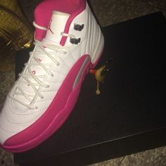 f7d178dea44b Air Jordan 12 Retro GG White pink - Metallic silver Jordan Shoes Sneakers