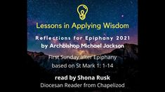 News: Lessons in Applying Wisdom: Archbishop Michael Jackson is sharing reflections based on the Gospel readings for each Sunday in the… Michael Jackson One, Gospel Reading, Church Of Ireland, First Sunday, Secret Law Of Attraction, The Rev, Epiphany, Jesus Quotes, Reflection