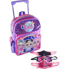 LOL Surprise Large School Rolling Backpack 16 inch Girls Bag with Face Masks is a favorite gift our 5 year old Loves!! It's super popular and something she enjoys playing with. Top Gifts For Boys, Cool Toys For Boys, Cute Gifts, Baby Gifts, Popular Kids Toys, Rolling Backpack, Christmas Gifts For Kids, Girls Bags, Face Masks