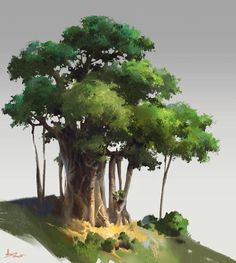 practice of tree, ling xiang on ArtStation at https://www.artstation.com/artwork/goake