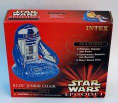 """Star Wars Episode 1 R2-D2 Inflatable Junior Chair 23""""W x 22""""D x 30""""H NIB #Intex"""