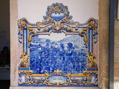 Painel de Azulejos: Uma Pousa - Pinhão   Flickr – Compartilhamento de fotos!