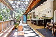 Urrutia Design gorgeous open-air kitchen / breakfast room