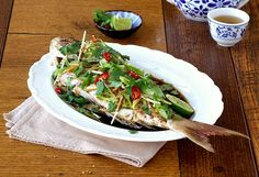 Steamed Chinese Snapper with Ginger & Coriander