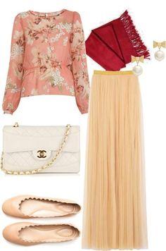 Hijab outfit .. Love the colour scheme