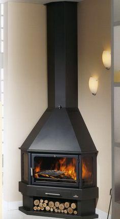 Wood Burning Stove Corner, Log Burning Stoves, Wood Pellet Stoves, Chiminea, Wood Fireplace, Fireplaces, Wood Pellets, Rocket Stoves, H & M Home