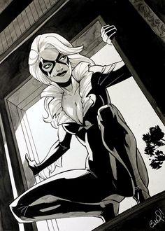 Marvel Dc, Marvel Comics, Spider Man 2018, Spiderman, Amazing Spider, Felicia, Comic Art, Fan Art, Cats