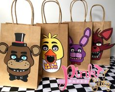 Five Nights at Freddy's Favor Bags FNAF Favor by Pinkpaperglitz