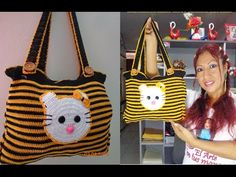 COMO HACER BOLSO Y/O CARTERA DE HELLO KITTY A CROCHET PASO A PASO - YouTube