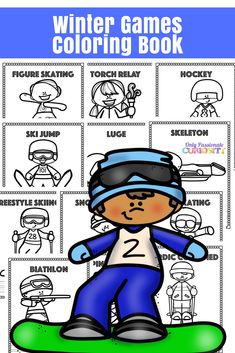 Winter Games Coloring Book via @opchomeschool
