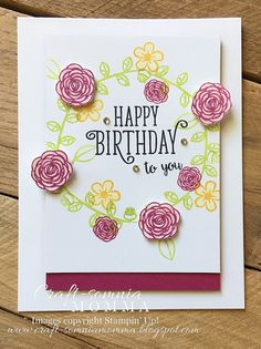 Craft-somnia Momma: Happy Birthday To You - SU - Happy Birthday Gorgeous