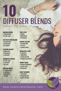 10 Fantastic Diffuser Blends for Better Sleep - Essential Oils for Sleep. Essential Oils For Sleep Diffuser Helichrysum Essential Oil, Essential Oils For Colds, Essential Oil Diffuser Blends, Essential Oil Uses, Young Living Essential Oils, Doterra Diffuser, Coffee Essential Oil, Best Diffuser, Clary Sage Essential Oil