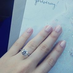 Love this classic solitaire engagement ring!