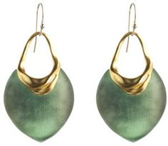 O'keeffe Matte Gold Small Shield Earring - Alexis Bittar - Polyvore
