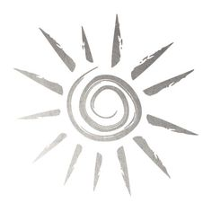 """This is a silver temporary tattoo of a lovely sun design. This tattoo is perfect for wearing to the beach or even if you are just dreaming of lounging in the sun! Sheet Size: 2"""" x 2"""" - Lasts 5-7 days"""