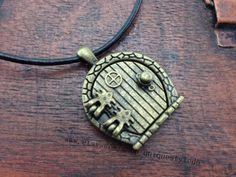The hobbit jewelry door locket necklace by uniquestyledo on Etsy, $2.80