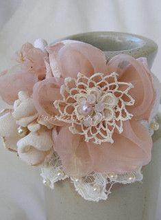 Vintage Lace Wrist Corsage www.dollyanddot.com