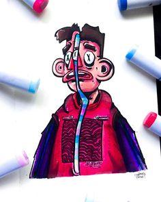 Cute Doodle Art, Doodle Art Designs, Doodle Art Drawing, Graffiti Doodles, Graffiti Cartoons, Graffiti Art, Types Of Art Styles, Different Art Styles, Cartoon Drawings