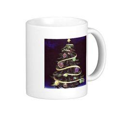 Wine eight-tree (dark blue) coffee mugs