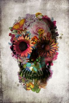 flower skull as stim for my gypsy lady tattoo..i want one so bad!!