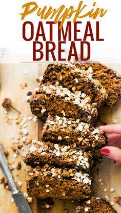 Healthy Pumpkin Bread (GF Quick Bread Recipe) + Video | Cotter Crunch Bread Recipe Video, Quick Bread Recipes, Baking Recipes, Diy Recipe, Healthy Recipes, Gluten Free Pumpkin Bread, Healthy Pumpkin Bread, Oatmeal Bread, Pumpkin Oatmeal