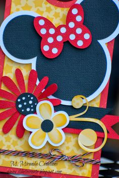Handmade by m miranda creations as a guest design team project for trendy twine. mouse memories girl file from mkc Disney Birthday Card, Cool Birthday Cards, Handmade Birthday Cards, Minnie Mouse Theme Party, Mickey Minnie Mouse, File Decoration Ideas, Disney Cards, Valentine's Cards For Kids, Disney Scrapbook Pages