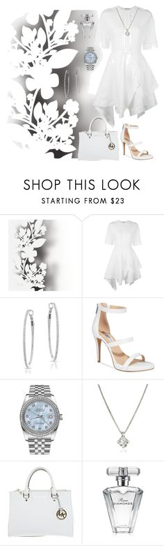 """White dress"" by vettec ❤ liked on Polyvore featuring Élitis, J.W. Anderson, Anne Sisteron, INC International Concepts, Rolex, Forzieri, Michael Kors and Avon"