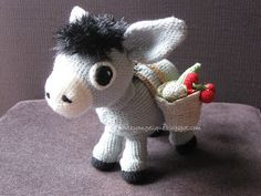 Cute Donkey Amigurumi - (e-mail request to get) FREE Crochet Pattern and Tutorial