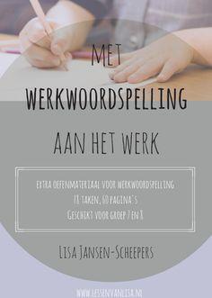 MET WERKWOORDSPELLING AAN HET WERK 18 taken (60 pagina's) aan gevarieerde oefeningen voor werkwoordspelling in een logische opbouw. Met antwoorden!
