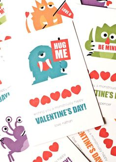 Personalized Children's Valentine Cards by PearentheticalPress