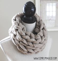 How to Arm Knit an Infinity Scarf in 15 Minutes - with Simply Maggie